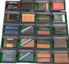 TOMMY HILFIGER MEN'S 20 PIECES LOT LEATHER CREDIT CARD WALLET ASSORTED WHOLESALE