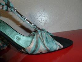 """Multo Color Nine West 2"""" slim Heel Sandal Rhinestone sz 8.5m - $43.42"""