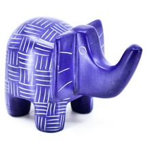 Vaneal Group Hand Crafted Carved Soapstone Blue Elephant Figurine Made in Kenya