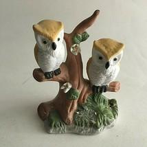 "Vintage Flambro Porcelain Ceramic Owl Figurine Made In Taiwan 4.5X3.5X2"" - $17.57"
