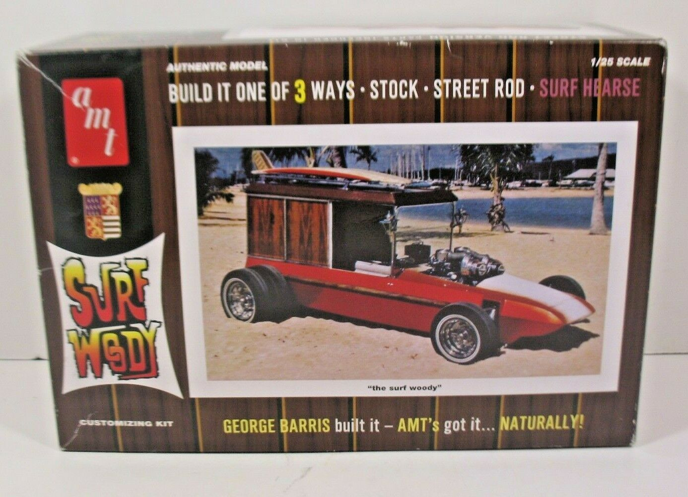 Primary image for AMT Surf Woody Model Kit-Original Box-Unbuilt-Complete-Decal & Instruction sheet