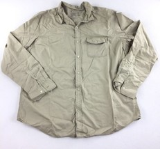American Eagle Outfitters Long Sleeve Button Down Shir Men's Beige Size ... - $469,79 MXN