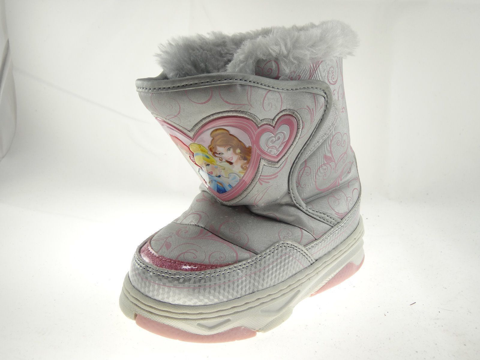 Primary image for Disney Nala Silver Gray Size 9/10 Girls Princess Winter & Snow Boots