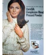 CornSilk Complexion Blend Pressed Powder Print Magazine Advertisement 1969 - $3.99