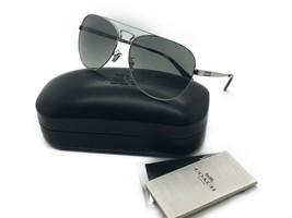COACH New Sunglasses Silver Black Gunmetal Grey HC7069 929411 60 15 140 - $82.42