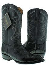 Mens Black Real Crocodile Alligator J Toe Cowboy Leather Boots Western Rodeo - $279.99