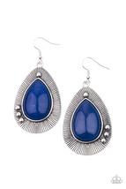 Western Fantasy - Blue Earrings - $2.75
