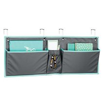 mDesign Fabric Wide Large Over The Cubical Wall Mounting Hanging File Folder Not image 6