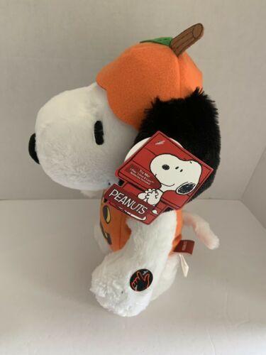 "Peanuts Halloween Snoopy as Pumpkin 13"" Plush Stuffed Toy FLAW see description"
