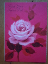 Vintage Red Rose From Your Secret Pal Greeting Card by Hallmark - $1.99