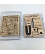Stampin Up! Word By Word &Two Step Stampin All About You  - $13.09
