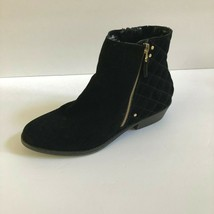 White Mountain Womens Black Suede Jodi Leather Ankle Boots Diamond Size 9 M - £26.53 GBP
