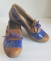 Ugg Women 1898 Ashdale Tan Purple Patent Leather Loafer Duck Boat Rain S... - $56.95