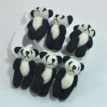 100pcs/lot Kawaii Small Joint Panda Bear Stuffed Plush Toys,Small Phone Pendant  image 2
