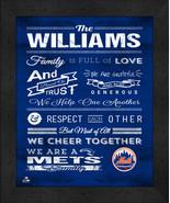 """New York Mets """"Family Cheer"""" 13 x 16 Framed Print - $39.95"""