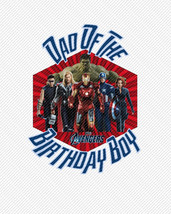 Dad of the Birthday Boy The Avengers Birthday Iron On Transfer Instant D... - $3.95
