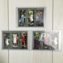 NBA 2004 Topps m3 Traiding card x3, LeBron James rookie card RC, Basketball - $158.39