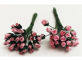 Mulberry Paper Flowers, Rosebuds, Miscellaneous Colors, 4mm, 73 Count image 2