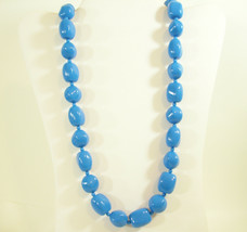 MONET Bright Royal Blue Big Beads Strand String Necklace Vintage Estate - $18.80