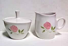 Franciscan Pink A Dilly Creamer & Sugar Bowl Vintage Items - $12.95