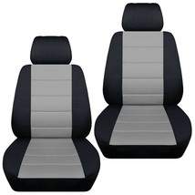 Front set car seat covers fits Chevy Malibu 1997-2020  black and silver - $72.99