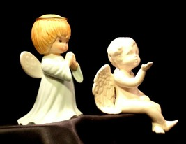 Ceramic Angels AA-191730  Vintage Collectible Pair image 2