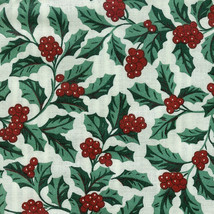 Longaberger Over the Edge Tall Key Basket Liner in Traditional Holly Fabric - $14.65