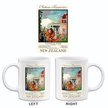 Chateau Tongariro - National Park, New Zealand - 1930's - Travel Poster Mug - $23.99+