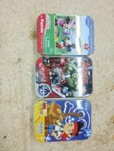 "Marvel Avengers Mickey mouse club house Jake. Disney 3 Puzzles 5""x7"") Tin - $0.94"
