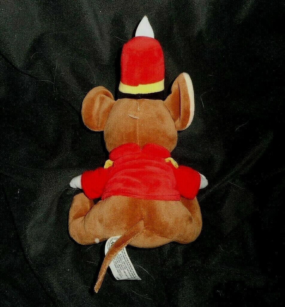 """7"""" DISNEY PARKS BROWN TIMOTHY MOUSE DUMBO STUFFED ANIMAL PLUSH TOY SOFT SMALL"""