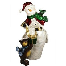cce9daeb7c9 Christmas Central 48 quot  Commercial Snowman Bear Christmas Display  Outdoor ... - £404.60