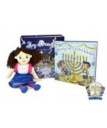 A Hanukkah Tradition The Story of Funukkah Girl Plush Doll &Book Set Blu... - $143.95