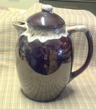 Vintage Ceramic Brown Glazed Coffee Pot with Lid - $19.97