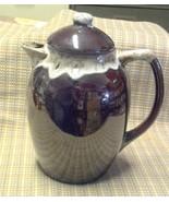 Vintage Ceramic Brown Glazed Coffee Pot with Lid - $19.97
