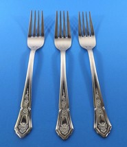 IMI27 IMPERIAL 3 STAINLESS DINNER FORKS-OUTLINE DIAMOND SHAPE POINT TOP ... - $14.99