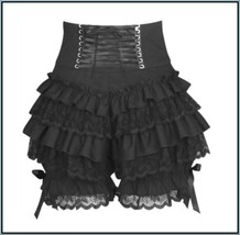 Victorian Laced Lingerie Layered Under Pants Black on Black Lace Bloomer... - $56.95
