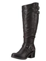 Carlos by Carlos Santana Women's CARA WC Fashion Boot, Black, 6 M US - $54.99