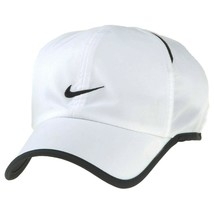 NEW! NIKE Adult Unisex Runner Cap DRI-FIT Featherlight Hat-White/Black, ... - $59.28