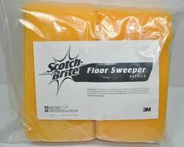 "NOS Scotch-Brite Flexible Floor Sweeper Refill Bulk Pack 9.25"" SQ  899RF... - $43.64"