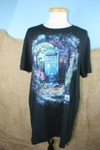Doctor Who Starry Night Van Gogh Design Black Cotton Shirt size L - $14.87