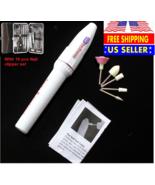 New ELECTRIC NAIL FILE DRILL + 16 pcs Manicure Tool Pedicure Machine Set... - $14.54