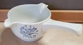 Vintage 1975 ROYAL DOULTON Lambeth Stoneware Gravy Bowl Blue Flowers - $13.99
