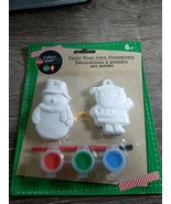 "Paint Your Own Ornaments, Snowman and Santa, 3"". New, 2 per Pack - $9.75"