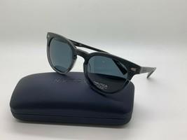 New Nautica N6218S 010  POLARIZED WOOD/SMOKE  Sunglasses 51mm w/Case - $44.59