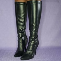 Size 8 Pleaser Seduce 2000 Black Faux Leather PU 6 inch Stiletto Knee-High Boots - $59.95