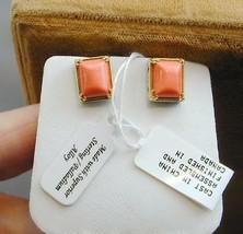 Michael Valitutti Gems En Vogue Rectangle Coral Sterling Palladium Earrings - $89.99