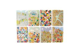 """OOLY 118-164 Pocket Pal Journal Pack of 8, (3.5"""" x 5"""") - Urban Cities - $18.22 CAD"""