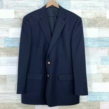 LRL Ralph Lauren Wool Blazer Jacket Navy Blue 2 Gold Button Center Vent ... - $79.19