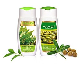 Vaadi Herbals Superbly Smoothing Heena Shampoo with Olive Conditioner, 1... - $10.99
