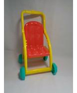 2008 Mattel Viacom Dora the Explorer Stroller Red / Yellow - as is - $3.35